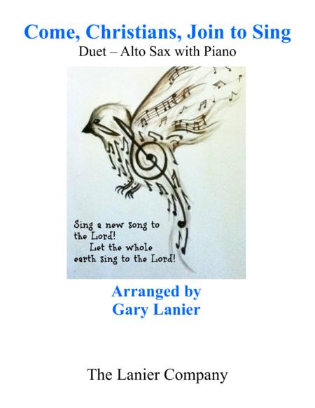 Gary Lanier: COME, CHRISTIANS, JOIN TO SING (Duet – Alto Sax & Piano with Parts)