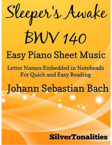 Sleepers Awake Easy Piano Sheet Music