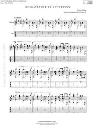 Manchester et Liverpool (Sheet music for guitar)