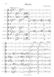 Alleyways for flute choir