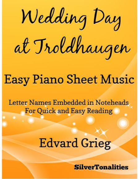 Wedding Day at Troldhaugen Easy Piano Sheet Music