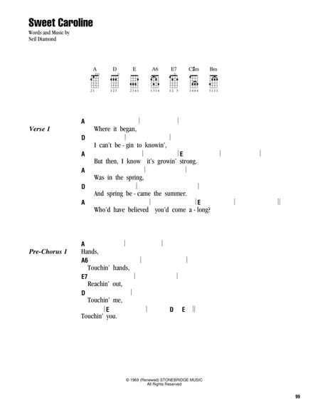 Preview Sweet Caroline By Neil Diamond Hx317955 Sheet Music Plus
