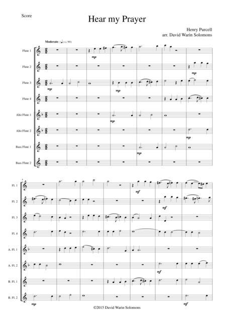 Hear my prayer for flute choir