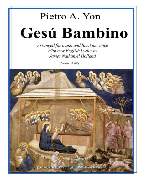 Gesu Bambino for Baritone Voice and Piano with New English Lyrics