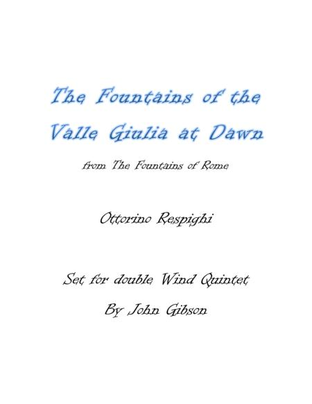 Respighi - Fountains of the Valle Giulia - set for Double Woodwind Quintet