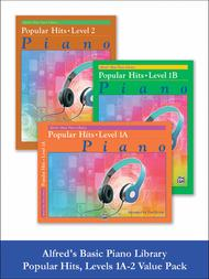 Alfred's Basic Piano Course - Popular Hits Level 1A-2 (Value Pack)