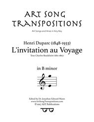 Download linvitation au voyage b minor sheet music by henri linvitation au voyage b minor stopboris Gallery
