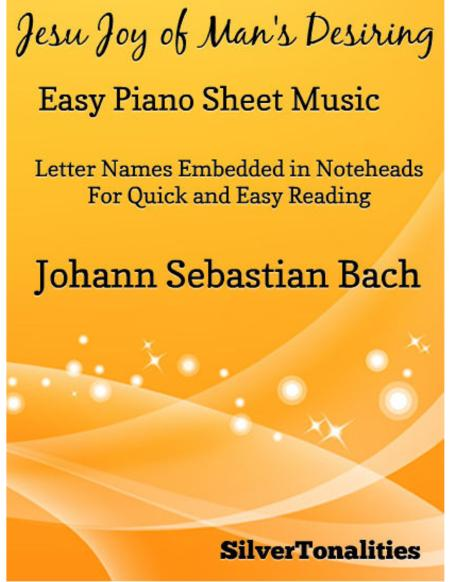 Jesu Joy of Man's Desiring Easy Piano Sheet Music