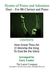 Gary Lanier: HYMNS of PRAISE and ADORATION (Duets for Bb Clarinet & Piano)
