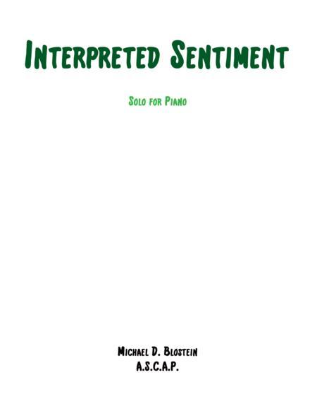 Interpreted Sentiment (piano solo)