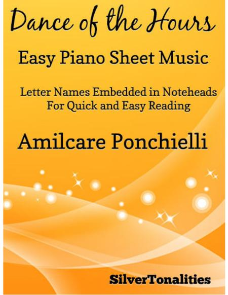 Dance of the Hours Easy Piano Sheet Music