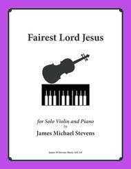 Fairest Lord Jesus (Piano & Violin)