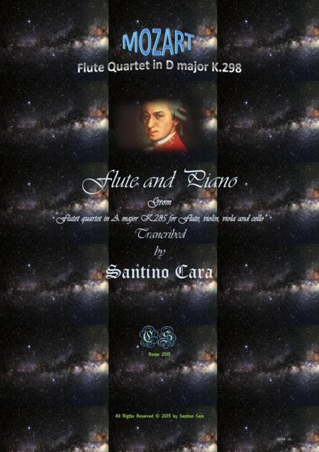 Mozart - Flute quartet in D major K.285 - Version for Flute and piano