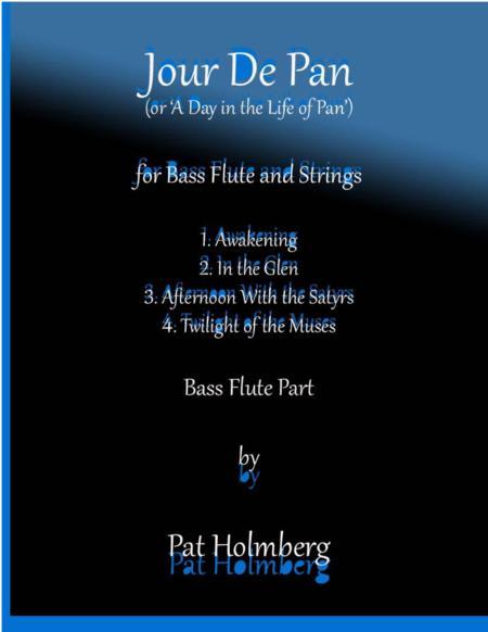Jour de Pan (for bass flute and strings) - bass flute part