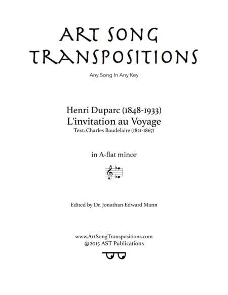 L'invitation au Voyage (A-flat minor)