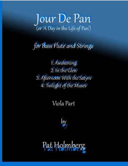 Jour de Pan (for bass flute and strings)- viola part
