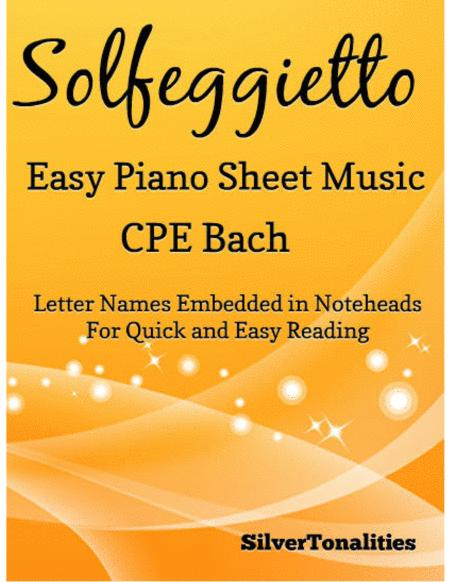 Solfeggietto Easy Piano Sheet Music