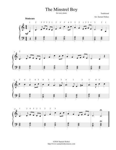 The Minstrel Boy - for easy piano