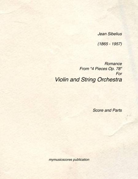 Romance Op. 78 No. 2 for Violin and String Orchestra