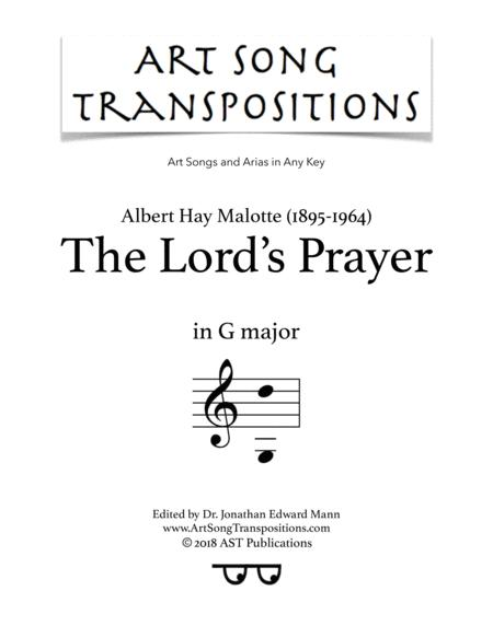 The Lord's Prayer (G major)