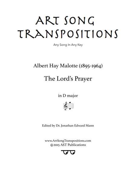 The Lord's Prayer (D major)