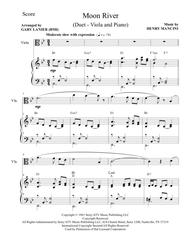 Moon River (Duet – Viola and Piano/Score and Parts)