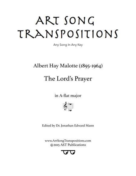 The Lord's Prayer (A-flat major)