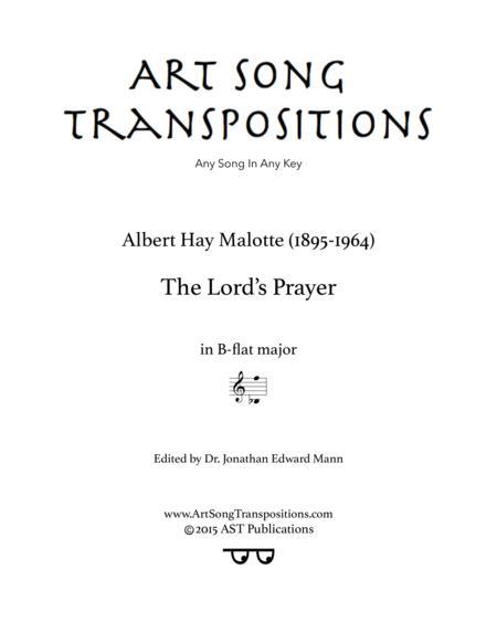 The Lord's Prayer (B-flat major)