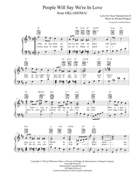 people will say we're in love by rodgers & hammerstein - digital sheet  music for - download & print h0.99453-644765 | sheet music plus  sheet music plus