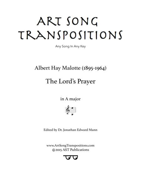 The Lord's Prayer (A major)