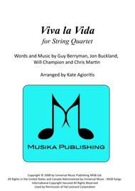 Viva La Vida - for String Quartet