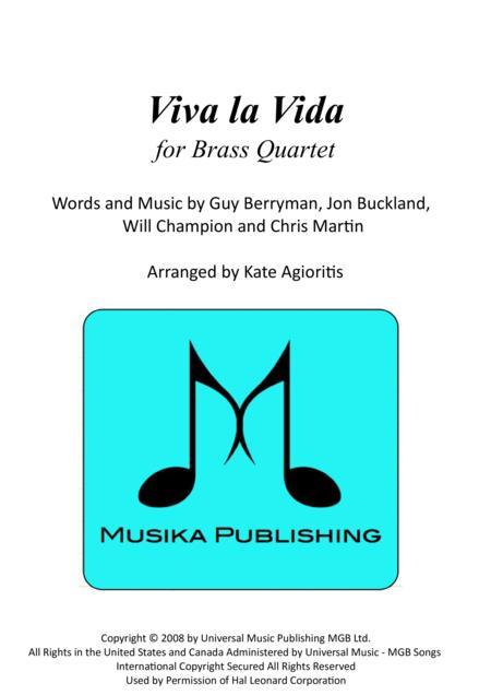 Viva La Vida - for Brass Quartet