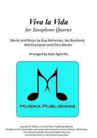 Viva La Vida - for Saxophone Quartet