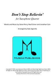 Don't Stop Believin' - for Saxophone Quartet