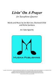 Livin' On A Prayer - for Saxophone Quartet