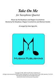 Take On Me - for Saxophone Quartet