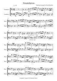 Greensleeves for Trombone Duet