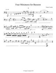 Four Miniatures for Bassoon
