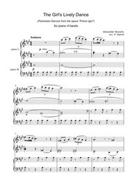 A. Borodin - The Girl's Lively Dance (Polovtsian Dances from the opera ''Prince Igor'') for piano 4 hands