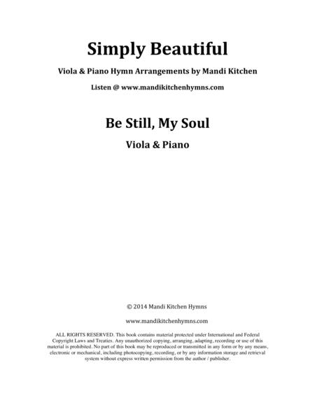 Be Still, My Soul Viola and Piano Duet