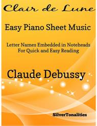 Clair de Lune Suite Burgamasque Easiest Piano Sheet Music