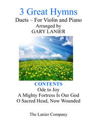 Gary Lanier: 3 GREAT HYMNS (Duets for Violin & Piano)