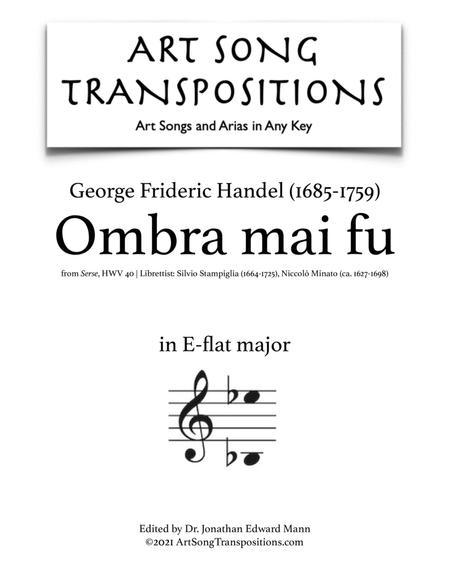 Ombra mai fu (E-flat major)