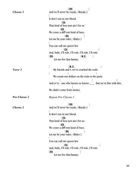Preview Royals By Lorde (HX.318935) - Sheet Music Plus
