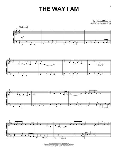 Download The Way I Am Sheet Music By Ingrid Michaelson Sheet Music