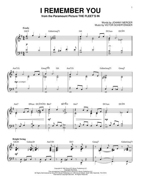 I Remember You [Jazz version] (arr. Brent Edstrom)