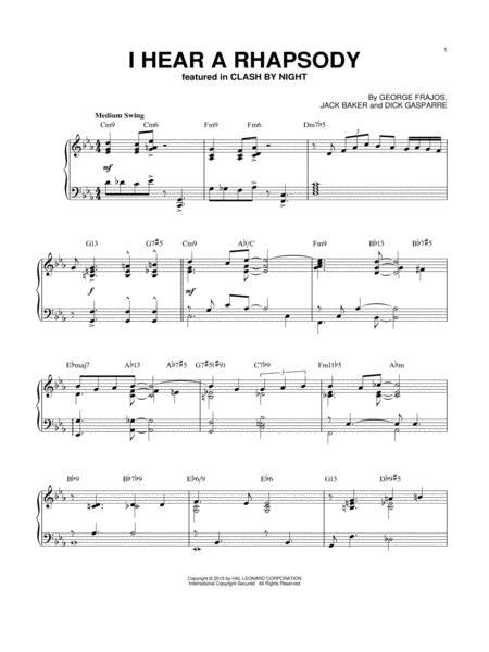 I Hear A Rhapsody [Jazz version] (arr. Brent Edstrom)