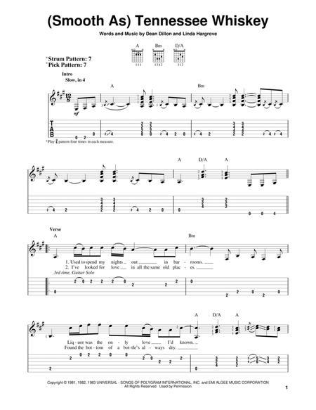 tennessee whiskey piano sheet music - Heart.impulsar.co