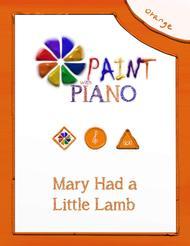 Mary Had a Little Lamb (Easy Piano)