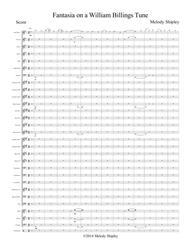 Fantasia on a William Billings Tune (Score)